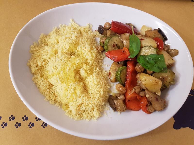 cous cous con verdure