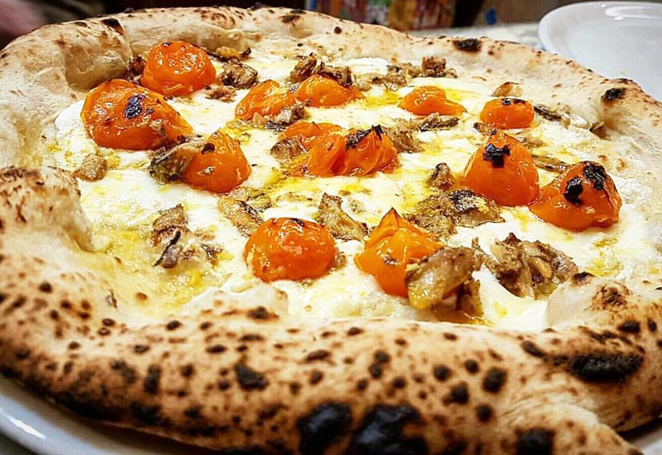 pizza con Sardine